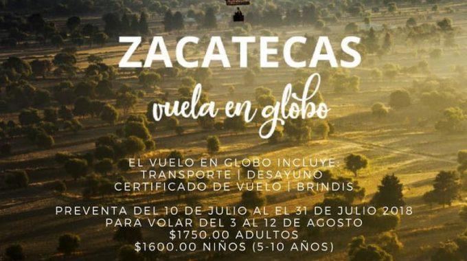 PONEN EN MARCHA EL NUEVO PRODUCTO TURÍSTICO ZACATECAS VUELA EN GLOBO