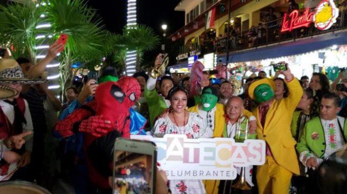 CON TRADICIONAL CALLEJONEADA, INICIA ZACATECAS SU PARTICIPACIÓN EN FESTIVAL DE VIDA Y MUERTE XCARET 2018